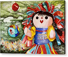 Christmas Muneca Acrylic Print