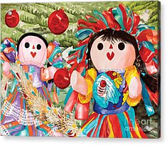 Christmas Munecas Acrylic Print