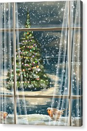 Christmas Night Acrylic Print by Veronica Minozzi