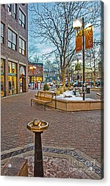 Christmas Old Town Acrylic Print by Baywest Imaging
