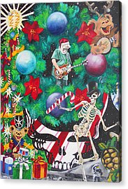 Christmas On The Moon Acrylic Print
