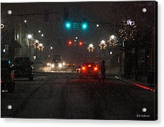 Christmas On The Streets Of Grants Pass Acrylic Print by Mick Anderson