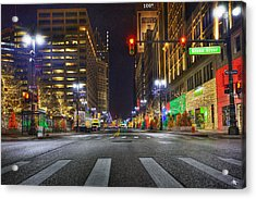 Christmas On Woodward Acrylic Print by Nicholas  Grunas