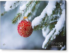 Christmas Ornament Acrylic Print by Diane Diederich