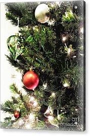 Christmas Ornaments Acrylic Print by Joan  Minchak
