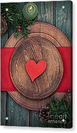 Christmas Ornaments Acrylic Print by Mythja  Photography