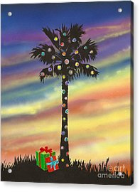 Acrylic Print featuring the painting San Clemente Christmas by Mary Scott