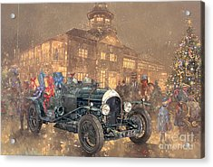 Christmas Party At Brooklands Acrylic Print by Peter Miller