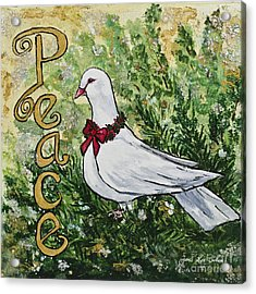 Christmas Peace Dove Acrylic Print