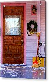 Christmas Pink Acrylic Print