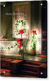Christmas Porch Acrylic Print by Jerry Sodorff