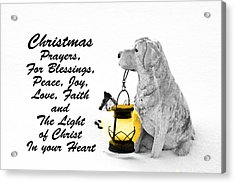 Christmas Prayers Acrylic Print