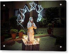 Christmas Prayers Acrylic Print by Money Sharma