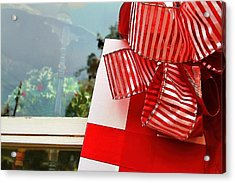 Christmas Present Acrylic Print by Audreen Gieger-Hawkins