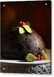 Christmas Pudding Acrylic Print by Amanda Elwell