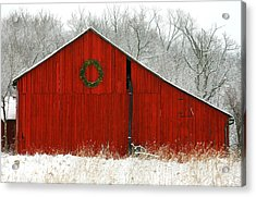 Christmas Red Acrylic Print by Clare VanderVeen