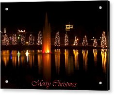 Christmas Reflection - Christmas Card Acrylic Print