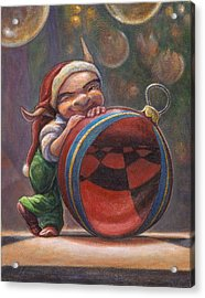 Christmas Reflections Acrylic Print by Leonard Filgate