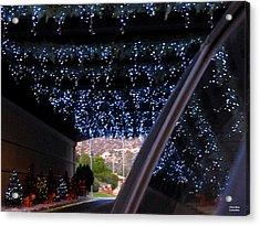 Christmas Road Decoration Acrylic Print