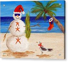 Christmas Sandman Acrylic Print by Jamie Frier