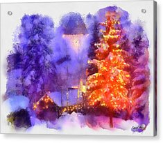 Acrylic Print featuring the painting Christmas Scenes 1 by Wayne Pascall