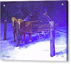 Christmas Sleigh Ride - Anticipation Acrylic Print
