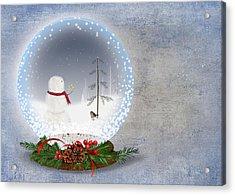 Christmas Snow Globe Acrylic Print