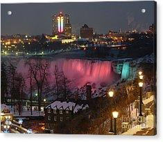 Christmas Spirit At Niagara Falls Acrylic Print