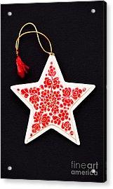 Christmas Star Acrylic Print by Anne Gilbert