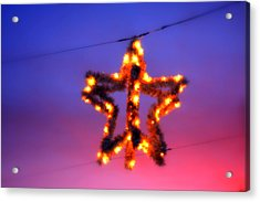 Acrylic Print featuring the photograph Christmas Star by Aurelio Zucco