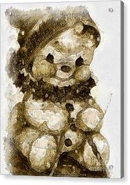 Christmas Teddy Bear Acrylic Print