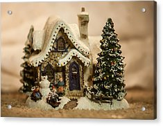 Acrylic Print featuring the photograph Christmas Toy Village by Alex Grichenko