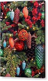 Christmas Tree Cheer Acrylic Print by Byron Varvarigos