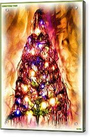 Acrylic Print featuring the digital art Christmas Tree by Daniel Janda