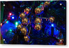 Christmas Tree Detail 1 Acrylic Print by Mick Anderson