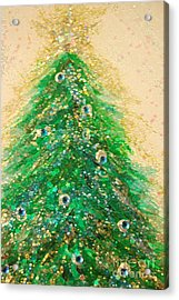 Christmas Tree Gold By Jrr Acrylic Print