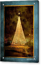 Christmas Tree In The City Acrylic Print