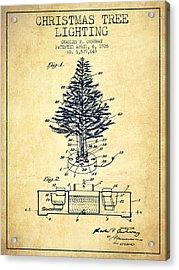 Christmas Tree Lighting Patent From 1926 - Vintage Acrylic Print