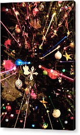 Acrylic Print featuring the photograph Christmas Tree Lights by Vizual Studio