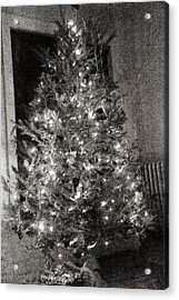 Christmas Tree Memories Monochrome Acrylic Print