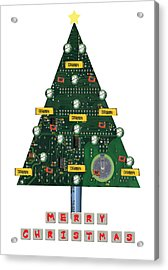 Christmas Tree Motherboard Acrylic Print