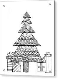 Christmas Tree Acrylic Print by Neeti Goswami