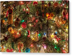 Christmas Tree Ornaments Acrylic Print by Sonny Marcyan