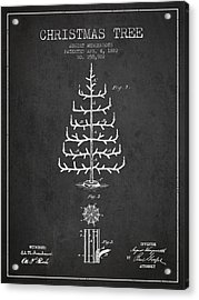 Christmas Tree Patent From 1882 - Charcoal Acrylic Print