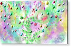 Christmas Tree Acrylic Print by Rosana Ortiz