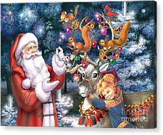 Christmas Tree-rudolph Acrylic Print