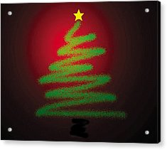 Christmas Tree With Star Acrylic Print