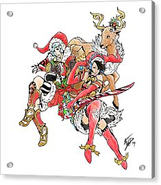 Christmas Trio Acrylic Print by Miguel Karlo Dominado