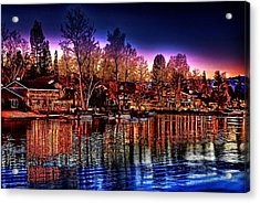 Christmas Twilight Acrylic Print by Cary Shapiro