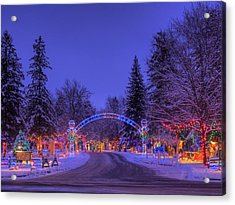 Christmas Village Acrylic Print by Larry Capra